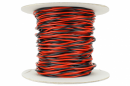 DCC Concepts Twisted Bus Wire 50m of 1.5mm (15g) Twin Red/Black