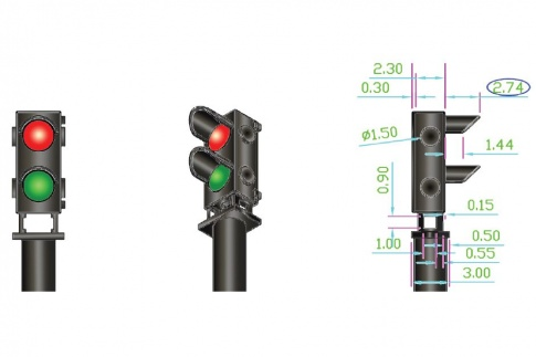 12x 2-wire Red/Green Ground Signal