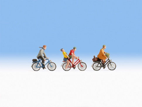 Noch 15898 Cyclists (3) And Accessories Figure Set
