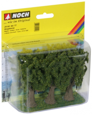 Noch 25150 Maple (3) Classic Trees 9cm