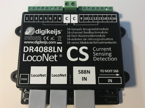 Digikeijs DR4088LN-CS 16 channels S88N feedback module with L.NET