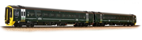 Bachmann 31-519 Class 158 2-Car DMU 158766 GWR Green (FirstGroup) DCC Ready