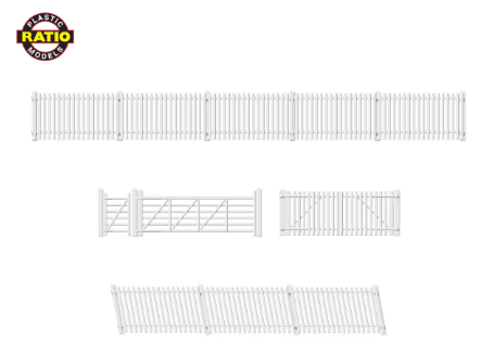 RATIO 420 OO Gauge GWR Station Fencing, White