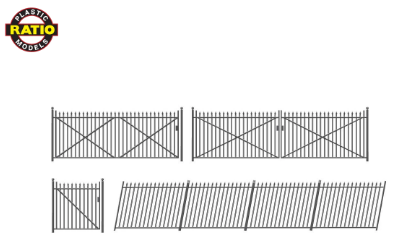 RATIO 435 OO Gauge Spear Fencing (Ramp Fences & Gates)