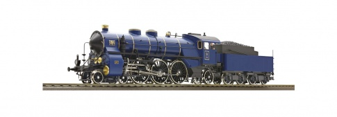 Roco 61471 - 2 Piece Set: Steam Locomotive S 3/6 and Saloon Carriage, K.Bay.Sts.B