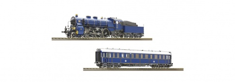 Roco 61472 - 2 Piece Set: Steam Locomotive S 3/6 and Saloon Carriage, K.Bay.Sts.B (DCC Sound)