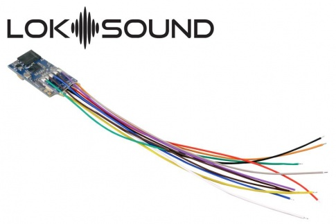 ESU LokSound Micro V5.0 Blank wires only With Sugar Cube Speaker 11mm x 15mm[1]