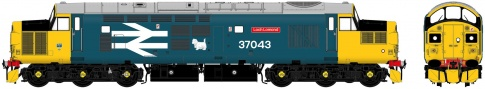 Accurascale Class 37 - 37043 'Loch Lomond' Large Logo Blue With Sound