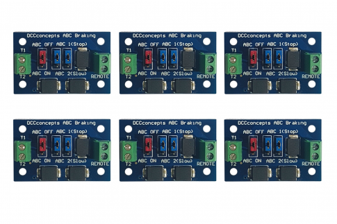 DCC Concepts DCD-ABC.6 Pack of 6 ABC slow or stop modules