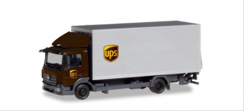 Herpa 310208 MB Atego 13 Box Truck With Tailgate UPS