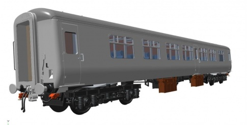 Heljan 2415  MK2 Coach BSO BR Blue/Grey With Micro Buffet