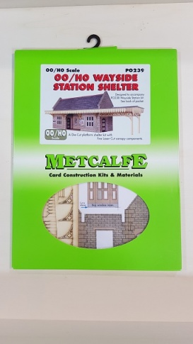 Metcalfe PO239 00/H0 Stone Built Wayside Station Shelter