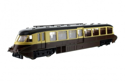 Dapol DA4D-011-007D Streamlined Railcar BR Lined Choc/Cream W11 (DCC-Fitted)