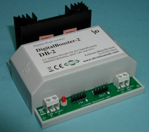 LDT DB-2-G Short circuit protected DigitalBooster (2.5 Ampere) as a finished module in a case