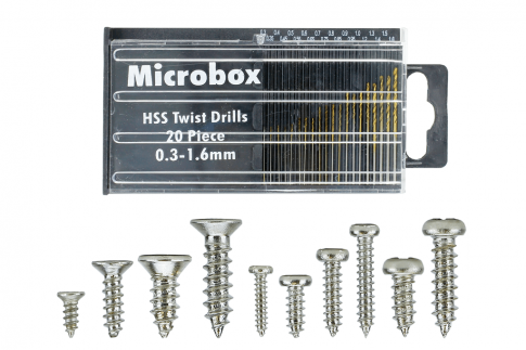 DCC Concepts Mega Screw Set  10x 60 Vials  (w/20 Drill Bit Set)