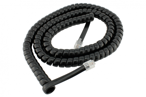 DCC Concepts RJ12 6pin Curly Cord For NCE Powercab and Cobalt Alpha  2m/6ft
