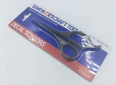 Tamiya 74031 Carbon Steel Decal Scissors