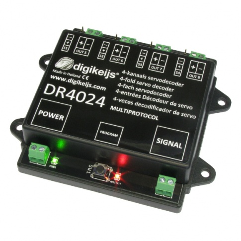 Digikeijs DR4024 4 channel Servodecoder with 4 extra switching outputs