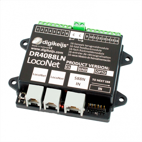 Digikeijs DR4088LN-GND 16-channel feedback module L.Net