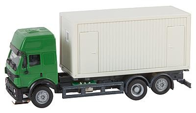 Faller 161480 MB Lorry with building site container