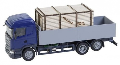 Faller 161597 - LKW Scania R 13 HL, Flatbed Truck with Wooden Crate