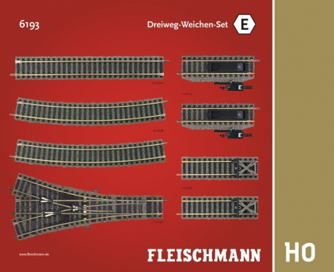 Fleischmann 6193 - Track Pack. Three-way point set.