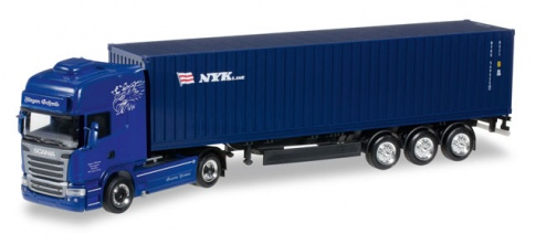 Herpa 305723  Scania R TL container semitrailer ''Jí_rgen Schmid Transporte / NYK''