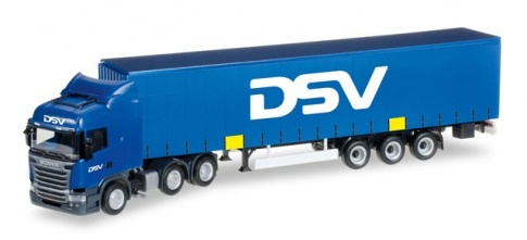 Herpa 305914 Scania R Truck and Trailer in DSV livery