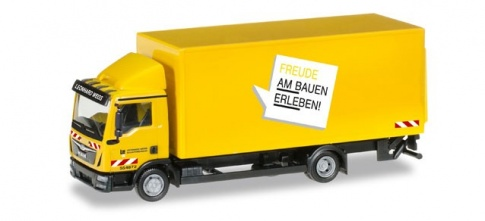 Herpa 306355 MAN TGL Truck with 'Leonhard Weiss' Box
