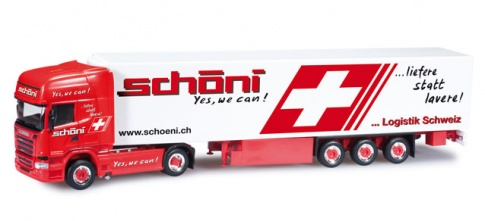 Herpa Scania R Streamline TL refrigerated semitrailer ''Schí_ni National'' (CH)