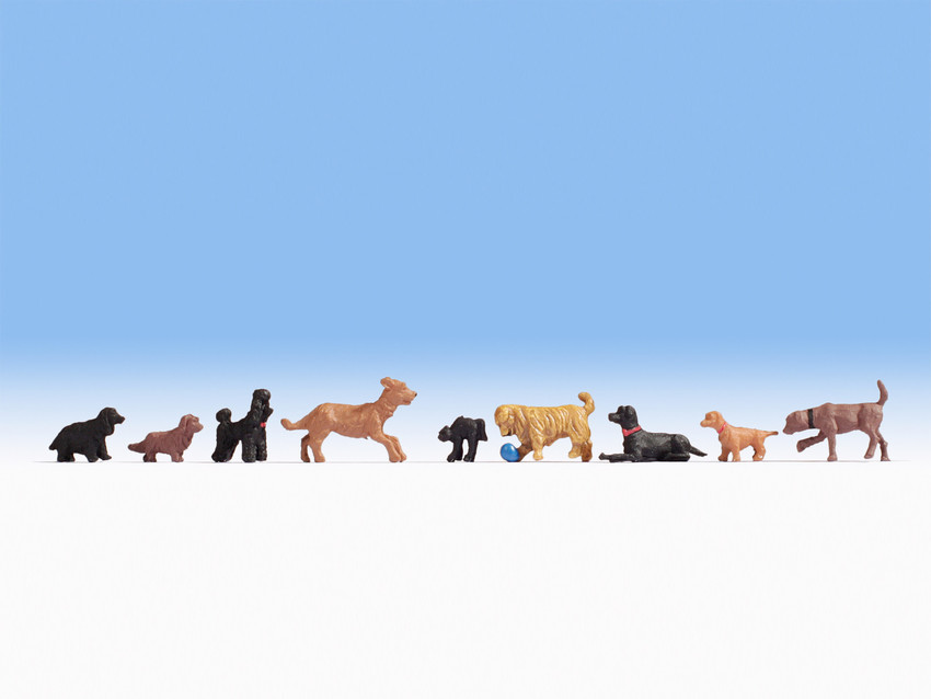 Noch 36717 Dogs (9) Figure Set in N gauge