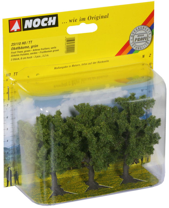 Noch 25110 Green Fruit (3) Classic Trees 8cm