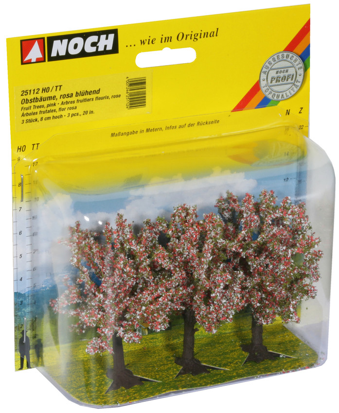 Noch 25112 Pink Fruit (3) Classic Trees 8cm