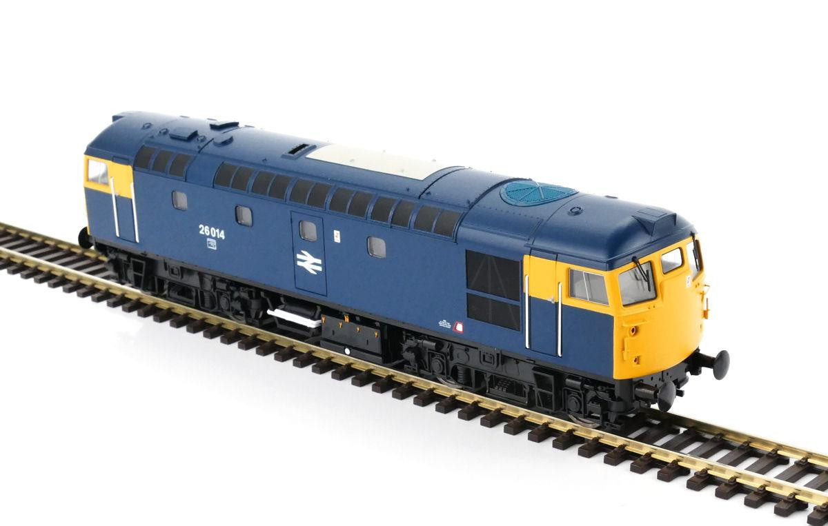 Heljan 2658 Class 26 - 26014 BR Blue With Full Yellow Ends