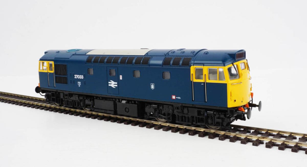 Heljan 2717- Class 27 - 27033 BR Blue With Full Yellow Ends