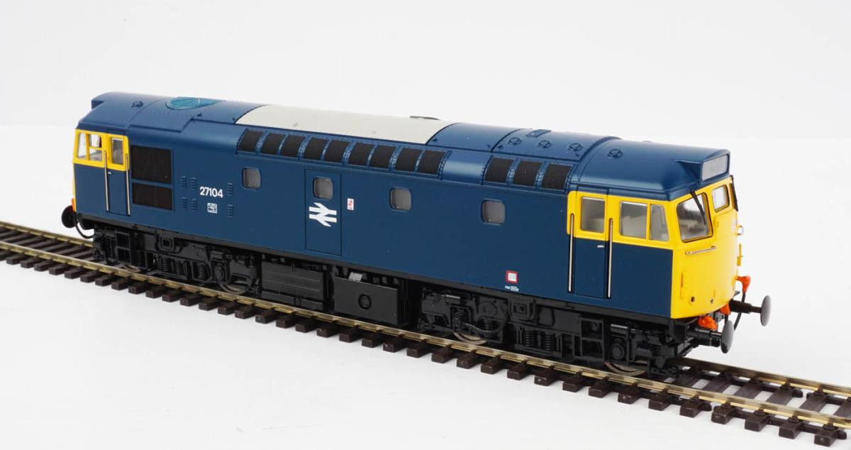 Heljan 2715- Class 27 - 27104 BR Blue With Full Yellow Ends