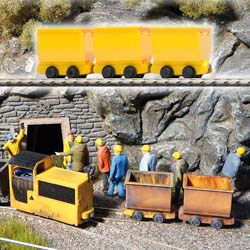 3 X Yellow Tipper Wagons
