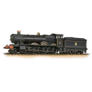 Bachmann 32-002A GWR 'Hall' 4971 'Stanway Hall' BR Lined Black (E-Emblem) [W]