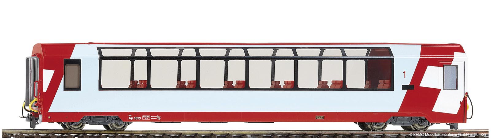 Bemo 3289 128 RhB Bp 2538 ''Glacier-Express'' panorama car 2nd class