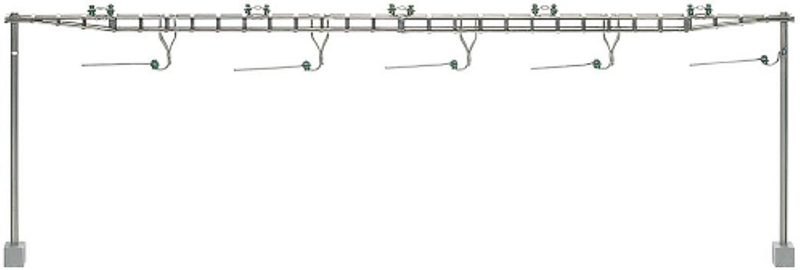 Cross span bridge SBB, completely with 2 masts, kit