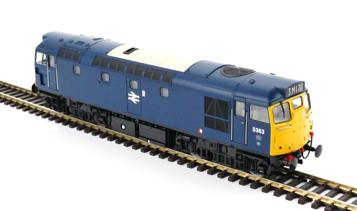 Heljan 2727 - Class 27 5363 In Blue With Full Yellow Ends
