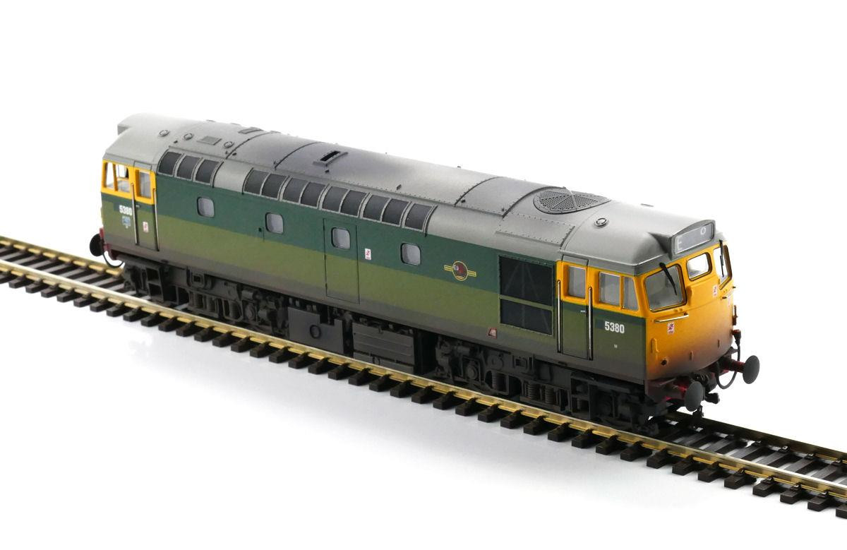 Heljan 2719- Class 27 - 5380 BR 2-Tone Green With Full Yellow Ends (Weathered)