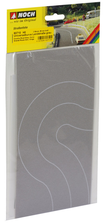 Noch 60710 Grey Country Road Universal Curve 6.6cm Wide