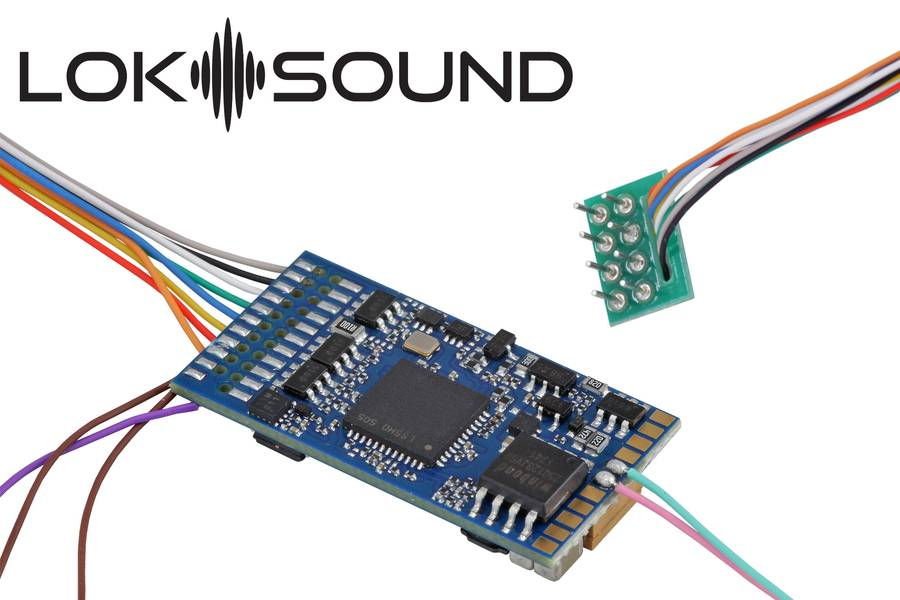 LokSound 5 DCC/MM/SX/M4 ''blank decoder'', 8-pin NEM652, with Speaker 11x15mm, gauge: 0, H0