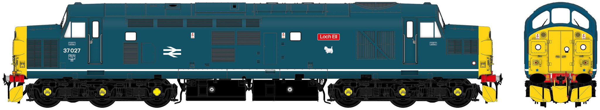 Accurascale Class 37 - 37027 'Loch Eil' BR Blue With Sound