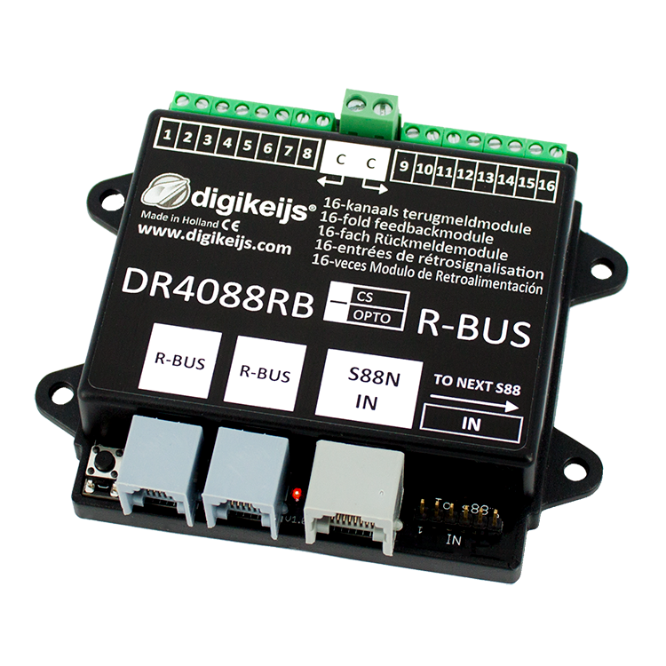 DR4088RB-OPTO 16-CHANNEL R-BUS FEEDBACK MODULE
