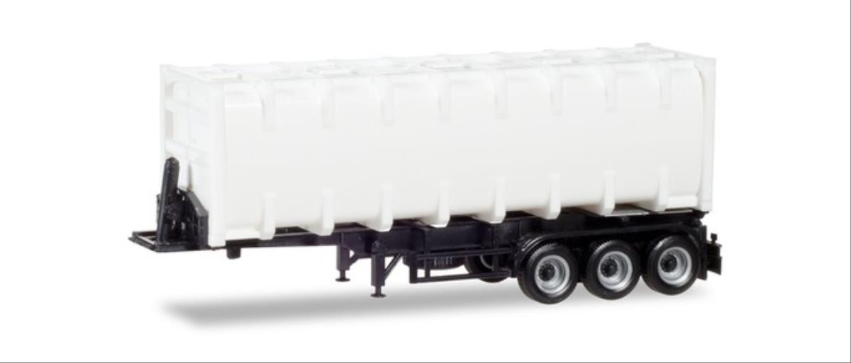 Herpa 076234-002 30ft Container Chassis White