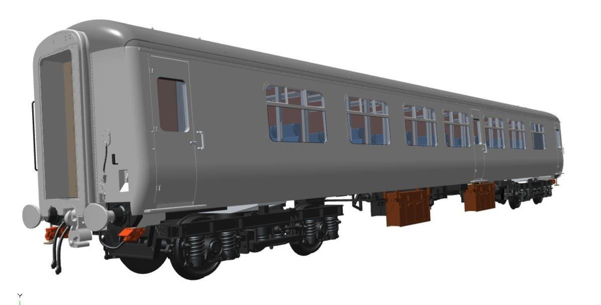 Heljan 2412  MK2 Coach BSO Network SouthEast Dark Blue