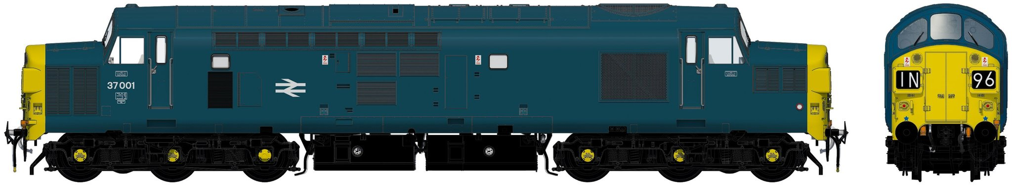 Accurascale English Electric Type 3 (Class 37) - 37001