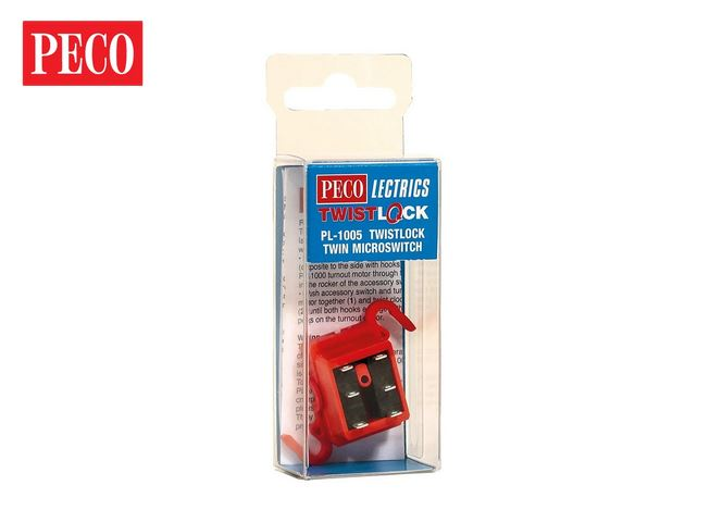 Peco PL-1005 Twistlock Twin Microswitch